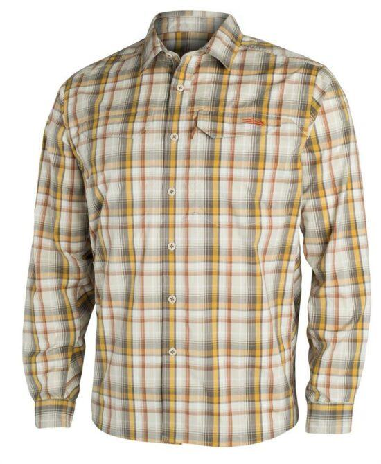 Sitka Gear Globetrotter Shirt LS Sand Plaid